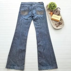 7 For All Mankind Dojo lattice pocket flare jeans